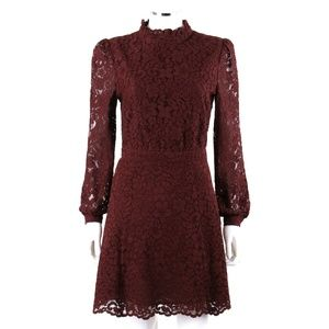 & Other Stories Lace Long Bishop Sleeve Dress